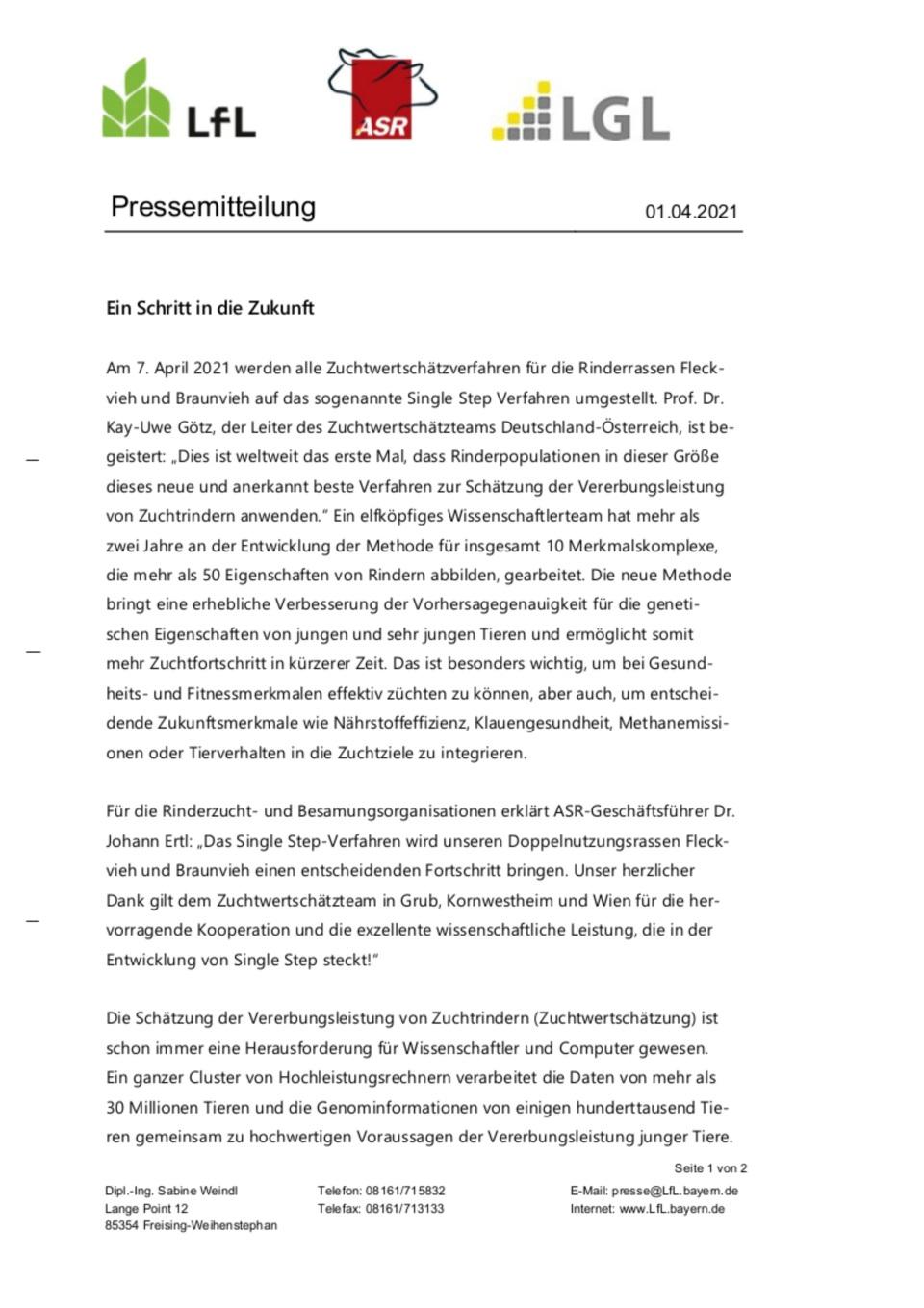 In Germania cambia il metodo di calcolo delle valutazioni genetiche
